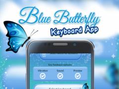Blue Butterfly Keyboard App 1.0 Screenshot