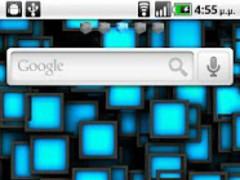 Blue Cube Theme GO Launcher EX 1.0 Screenshot
