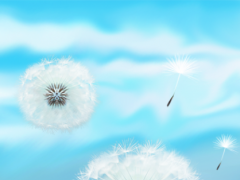 Blue Sky Dandelion HD 2.0 Screenshot