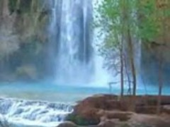 Blue Waterfalls In Forest 1.2 Screenshot