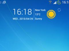 Blue Windows 7 GoLauncher Free 1.01 Screenshot