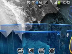 BlueFuture Next Launcher Theme 1.1 Screenshot