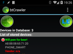 Bluetooth Scanner - btCrawler  Screenshot