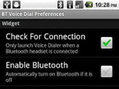 Bluetooth Voice Dial Widget 2.2 Screenshot