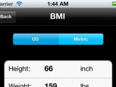 BMI - BMR - Body Fat Percentage Calculator 1.0 Screenshot