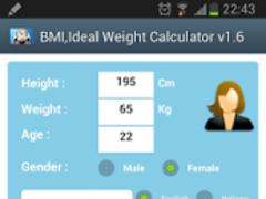 BMI,Ideal Weight Calculator 1 Screenshot