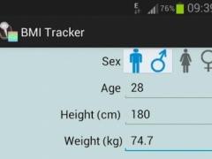 BMI Tracker 1.1 Screenshot