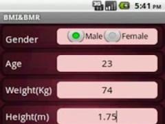 BMR BMI Calculator 1.1 Screenshot