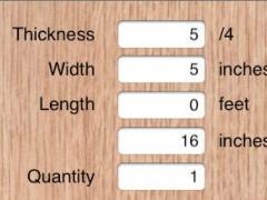 Boardfoot Calculator 1.0 Screenshot