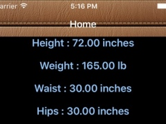 Body Fat Calorie Calc 1.0 Screenshot