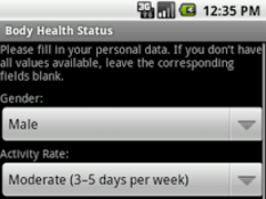 Body Health Status 1.0 Screenshot