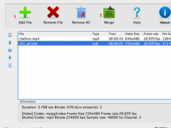 Boilsoft Video Joiner for Mac 1.08.2 Screenshot