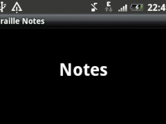 Braille Notes 1.0 Screenshot
