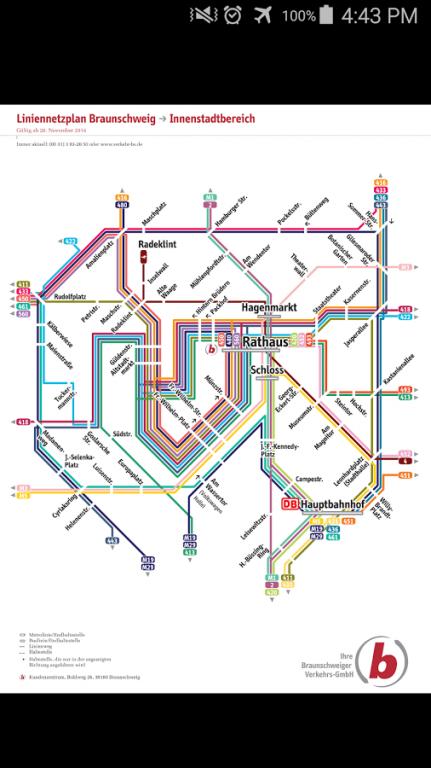 Braunschweig Tram Bus Map 10 Free Download