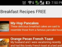 Breakfast Recipes FREE 1.0 Screenshot