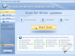 Broadcom Drivers Update Utility 9.7 Screenshot
