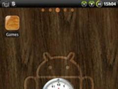 Brushed Clock widget 1.02 Screenshot