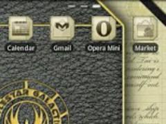 BSG Notebook GO Launcher Theme 1.1 Screenshot