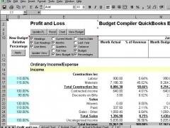 Budget Compiler QuickBooks Excel 30 Screenshot