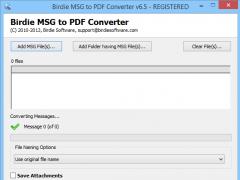 Bulk Import MSG to PDF 8.0.3 Screenshot