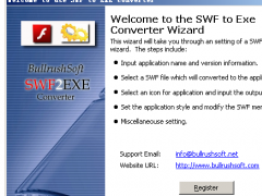 BullrushSoft Swf to exe Converter 2.03 Screenshot
