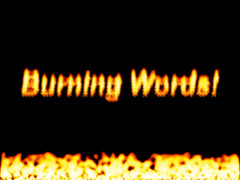 Burning Words Screensaver 1.1 Screenshot
