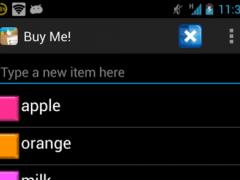 Buy Me! - Shopping List 1.0 Screenshot