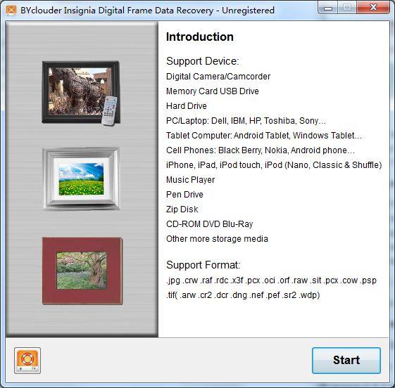 BYclouder Insignia Digital Frame Data Free Download