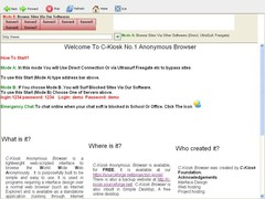 C-Kiosk #1 Anonymous Browser 1.0.0.1 Screenshot