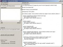 C++ Python language bindings  Screenshot