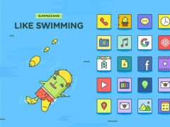 Cactus Swimming Live theme 1.0 Screenshot