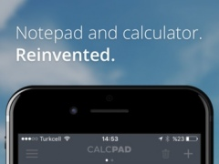 CalcPad - Notepad and Calculator. Reinvented 1.0 Screenshot