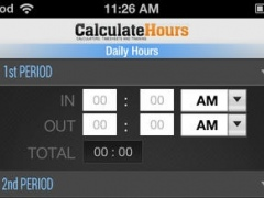 Calculate Hours Worked - Timesheet Calculator 3.0 Screenshot