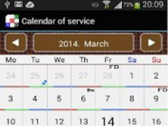 Work Shift Calendar  Screenshot