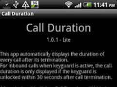 Call Duration Lite 1.0.4 Screenshot