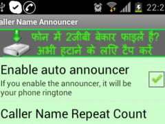Caller's Name Announcer 1.0 Screenshot