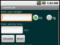 CalorieCalc 1.06 Screenshot