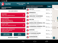 Caltex Australia Site Locator 1.2.2 Screenshot