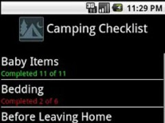 Camping Trip Checklist 1.0.4 Screenshot