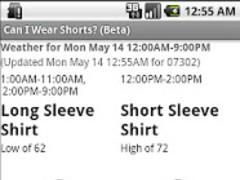 Can I Wear Shorts? (Beta) 1.03 Screenshot