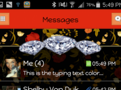 Candy 6 - GO SMS THEME 1.1 Screenshot