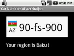 Car numbers of Azerbaijan 1.0 Screenshot