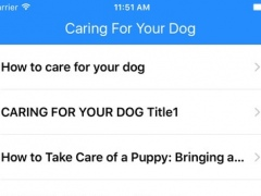 Caring For Your Dogs 1.0 Screenshot