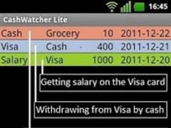 Cash Watcher Lite 1.14 Screenshot