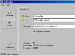 Caterpillar - HTML Extractor 1.2 Screenshot