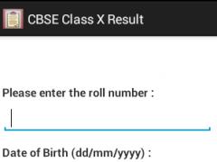 CBSE Class X Results 1.1 Screenshot