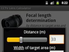 CCTV Lens Calculator 2.2 Screenshot