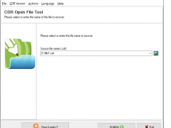 CDR Open File Tool 2.0.5.0 Screenshot
