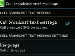 Cell Broadcast Messages 1 Screenshot