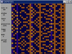 Cellular automata music in Basic 05.07 Screenshot